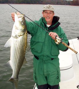 Nice striper caught on Lake Hartwell, Georgia.